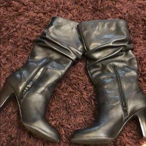 Black Leather BCBG boots
